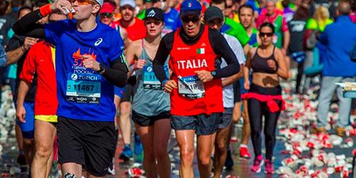 Dispositivo de limpieza del Zurich Maratón de Sevilla más sostenible