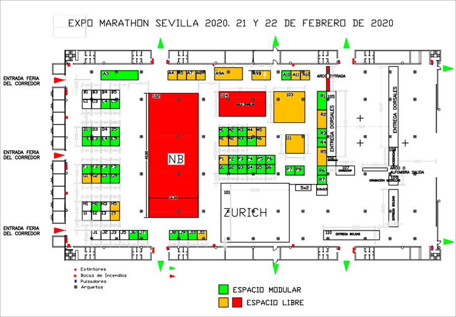 Plano Expo Marathon Sevilla
