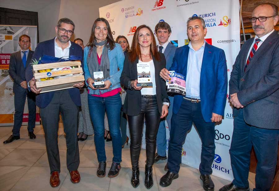 Entrega de premios del Zurich Maratón de Sevilla