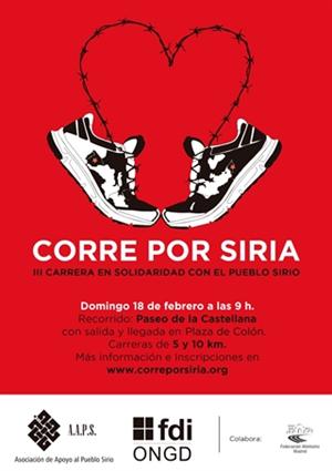 Corre por SIRIA. III Carrera en Solidaridad con el Pueblo Sirio
