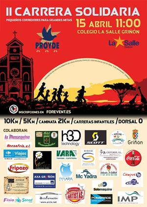 II Carrera Solidaria PROYDE La Salle Griñón