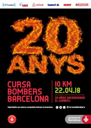 Cursa Bombers Barcelona 2018. Oferta Dorsal + subscripción