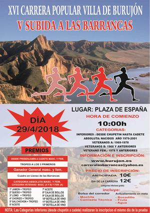 XVI Carrera Popular de Burujón - V Subida a las Barrancas