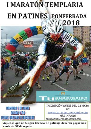 I Maratón Templaria Ciudad de Ponferrada en Patines
