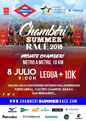Chamberí Summer Race. 10 km