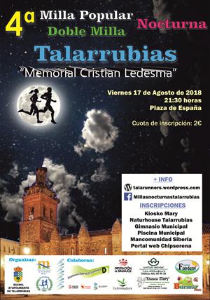 IV Edición de las Millas Nocturnas – Memorial Cristian Ledesma Murillo