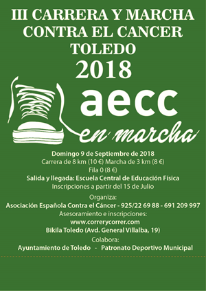 III Carrera y Marcha Contra el Cáncer Toledo 2018