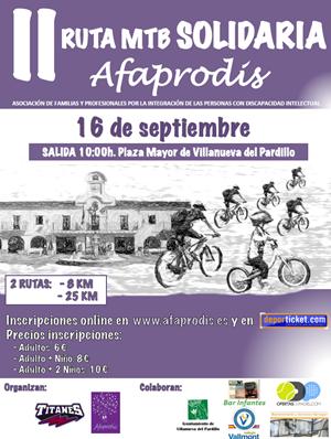 II Ruta MTB Solidaria AFAPRODIS