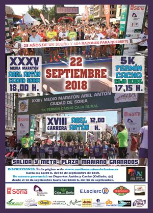 XXXV Medio Maratón Abel Antón Ciudad de Soria y VI 5K Fermín Cacho Caja Rural