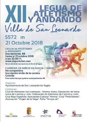"XII Legua de atletismo ""Villa de San Leonardo"""