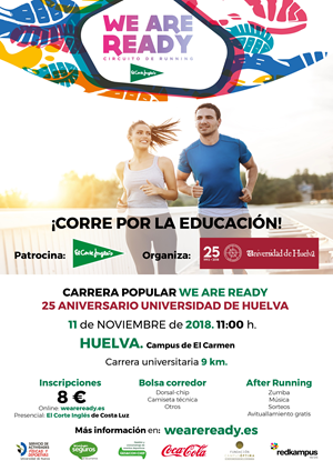 Carrera Popular We Are Ready 25º Aniversario Universidad de Huelva