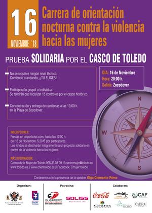 """IV Carrera de Orientación Urbana Nocturna - """"Contra la violencia hacia las mujeres"""""""