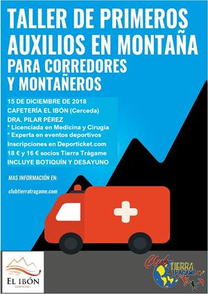 Taller de Primeros Auxilios en montaña para corredores y montañeros