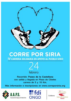 Corre por SIRIA. IV Carrera en Solidaridad con el Pueblo Sirio