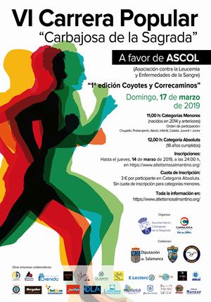 VI Carrera Solidaria Carbajosa de la Sagrada a favor de ASCOL