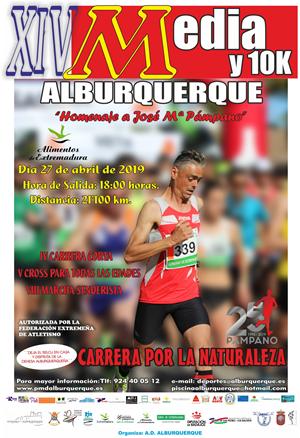 """XIV Media y 10K de Alburquerque """"Homenaje a José Mª Pámpano"""""""