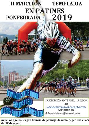 II Maratón Templaria Ciudad de Ponferrada en Patines