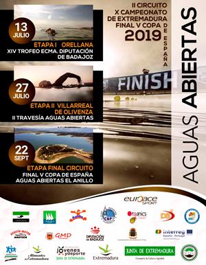 II Circuito Campeonato de Extremadura / V Copa de España de Aguas Abiertas. Olivenza
