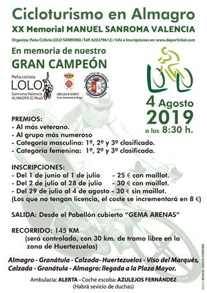 XX Marcha Cicloturista LOLO SANROMA - Almagro