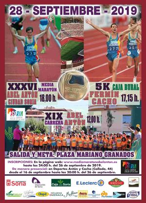 XXXVI Medio Maratón Abel Antón Ciudad de Soria y VII 5K Fermín Cacho Caja Rural