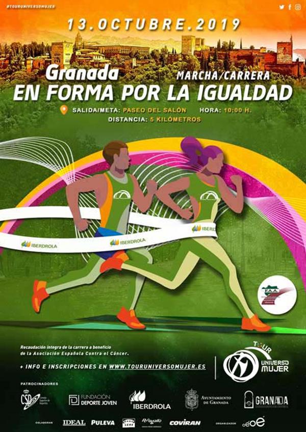 Carrera en Forma por la Igualdad. Tour Universo Mujer. Granada