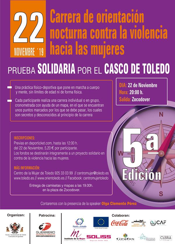 V Carrera de Orientación Urbana Nocturna - Contra la violencia hacia las mujeres