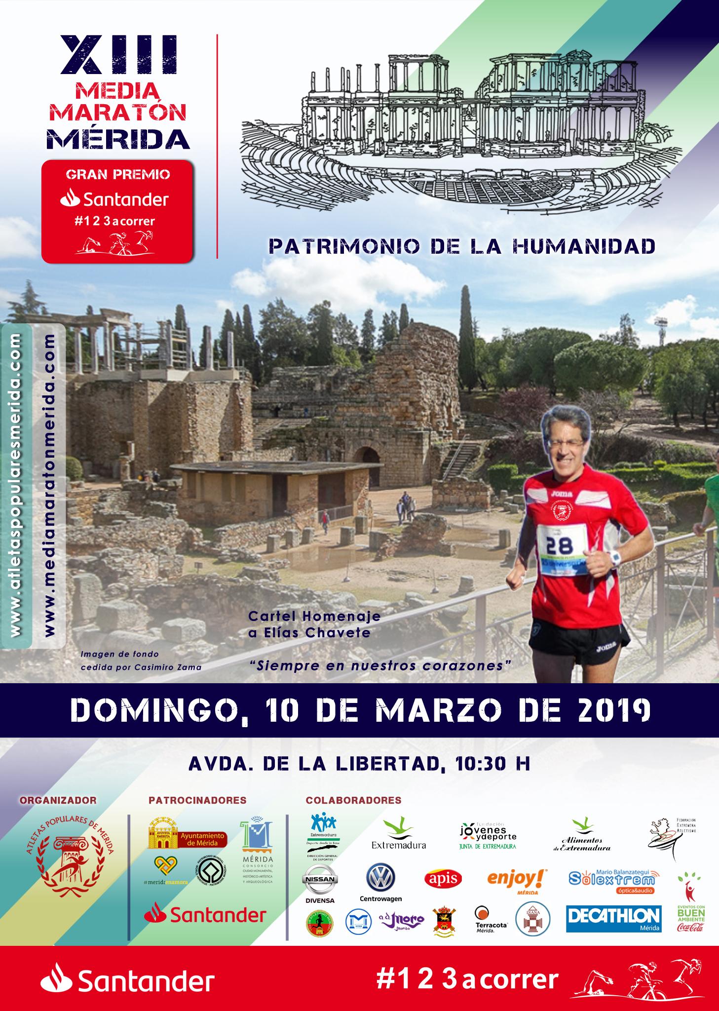 XIII Media Maratón Mérida. Patrimonio de la Humanidad