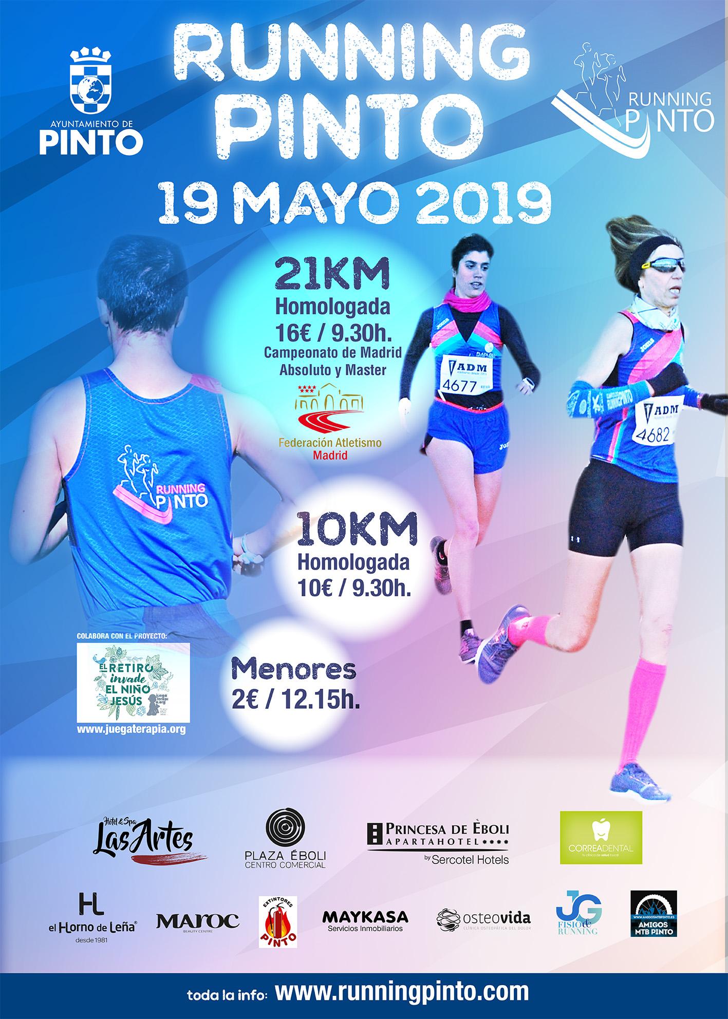 VIII Carrera 10km y IV Medio Maratón Running Pinto