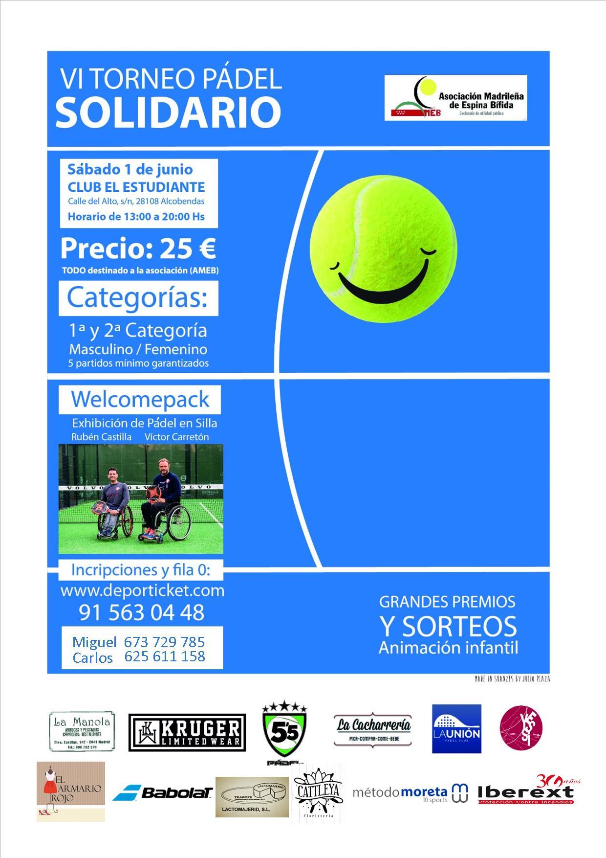 VI Torneo de Pádel Solidario a Favor de AMEB