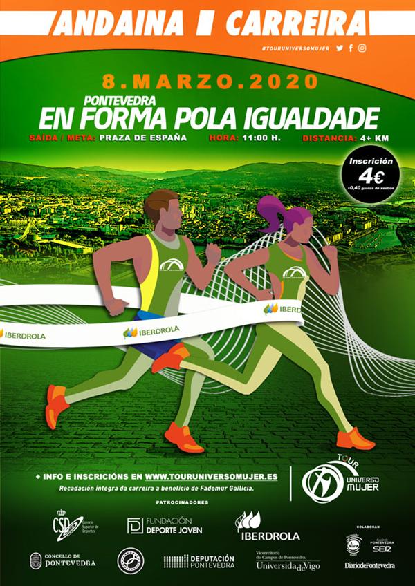 Carrera en Forma por la Igualdad. Tour Universo Mujer. Pontevedra