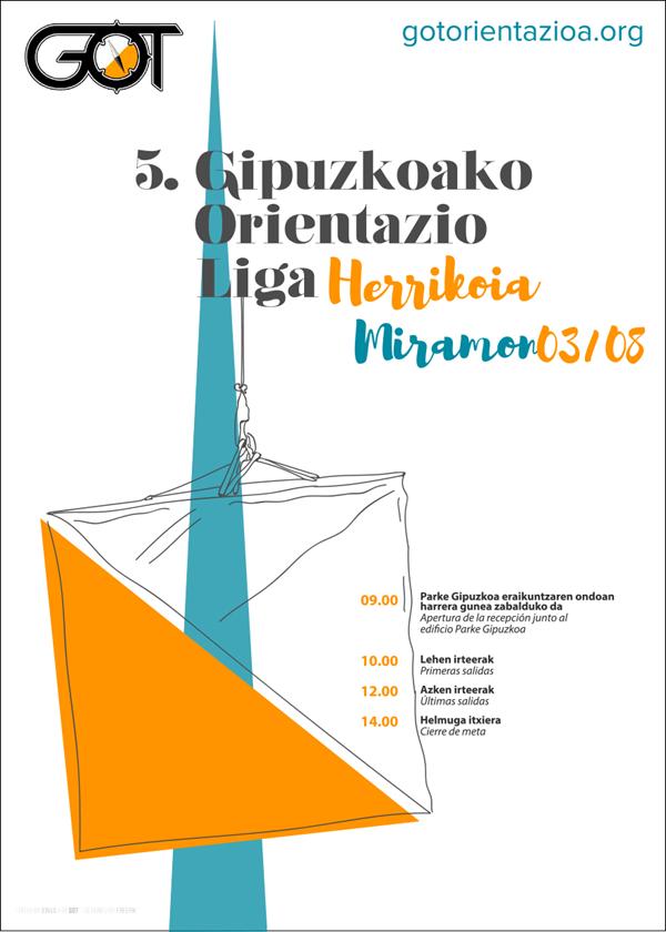 V Liga GOL de Orientación de Gipuzkoa - Miramon