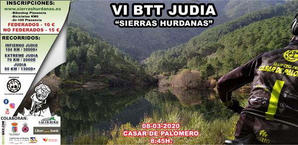 VI Marcha BTT Judía - Sierras Hurdanas