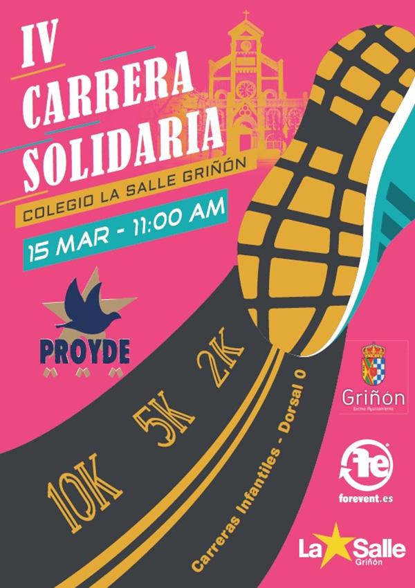 IV Carrera Solidaria PROYDE La Salle Griñón