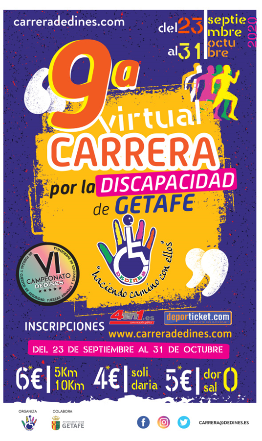 9ª Carrera Virtual por la discapacidad DEDINES
