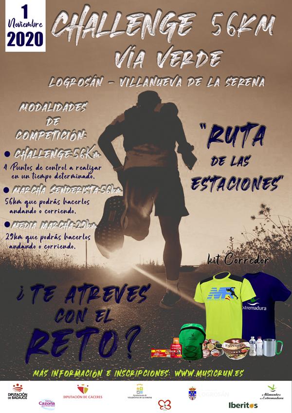 Challenge 56k Vía Verde Logrosán-Vva de la Serena (Ruta de las Estaciones)