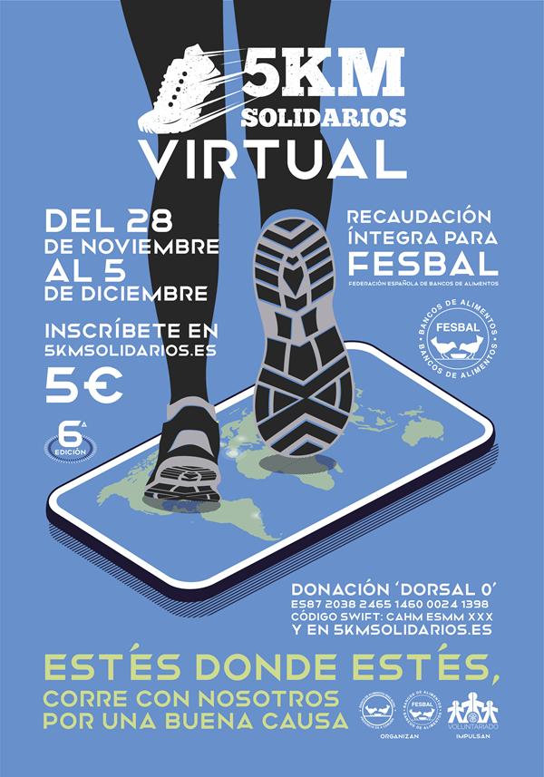 VI Carrera Benéfica 5KM Solidarios, I Virtual 2020