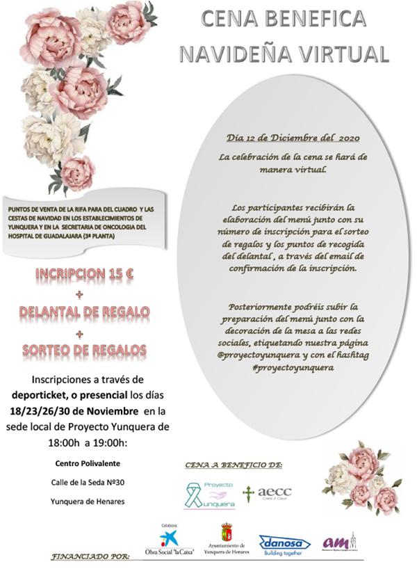 Cena Benéfica Navideña Virtual - Proyecto Yunquera