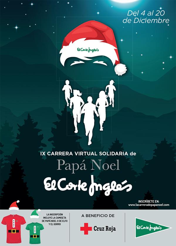 IX Carrera Virtual Solidaria de El Corte Inglés Papá Noel