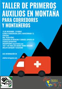 Taller de primeros auxilios en montaña