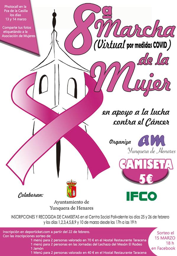 8ª Marcha de la Mujer Virtual en apoyo a la lucha contra el cáncer