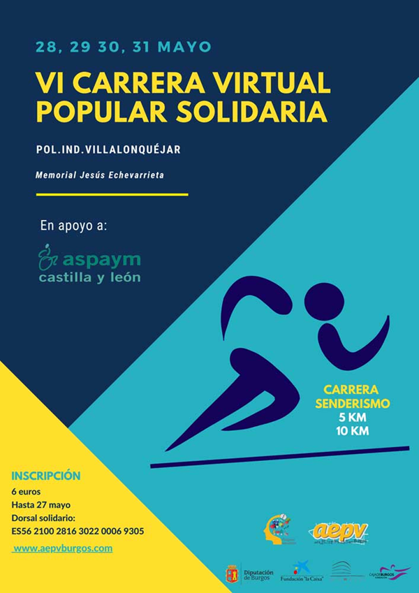 VI Carrera Virtual Popular Solidaria Polígono Industrial Villalonquéjar, Memorial Jesús Echevarrieta