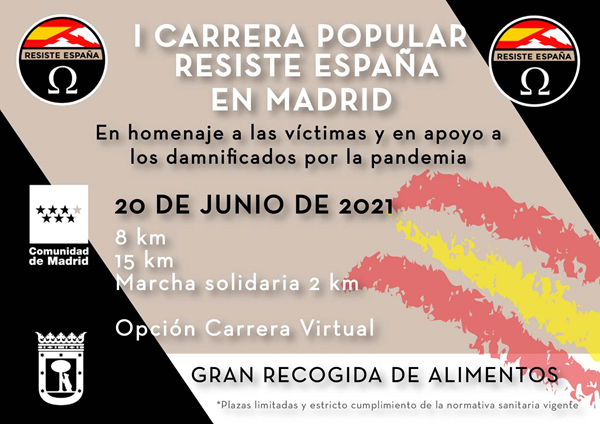 I Carrera Solidaria Resiste España (VIRTUAL)