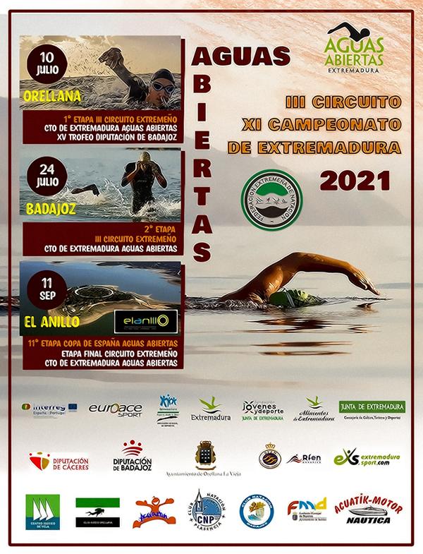 III Circuito XI Campeonato de Extremadura de Aguas Abiertas. Badajoz