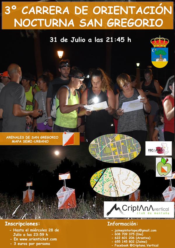 III Carrera de Orientación Semi-Urbana Nocturna San Gregorio