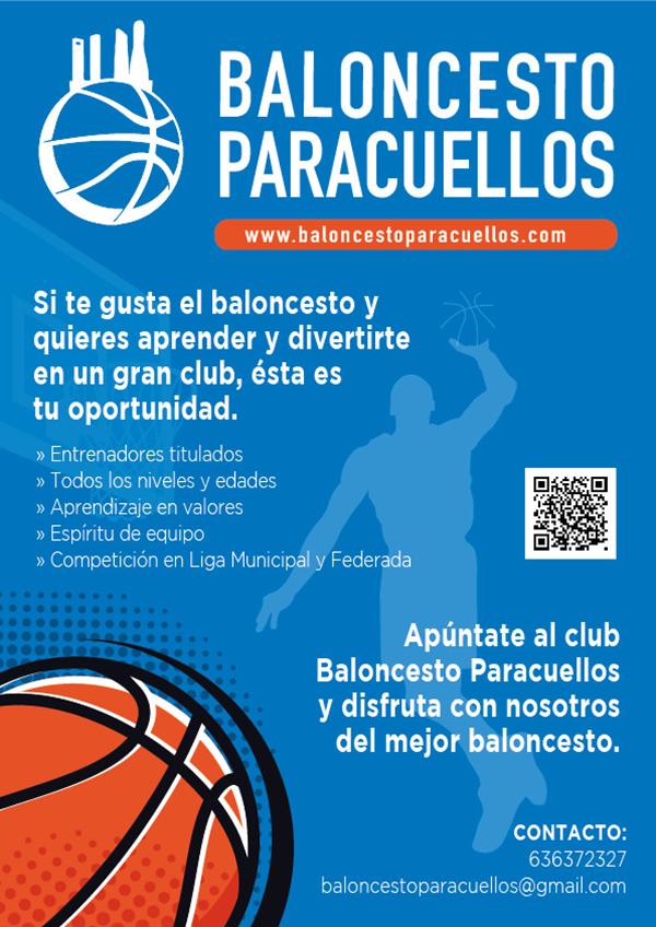 Club Baloncesto Paracuellos. Inscripciones temporada 2021-2022