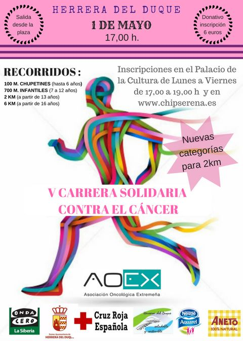 V CARRERA SOLIDARIO CONTRA EL CANCER 6K