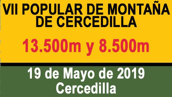 VII CARRERA DE MONTAÑA CERCEDILLA 8K