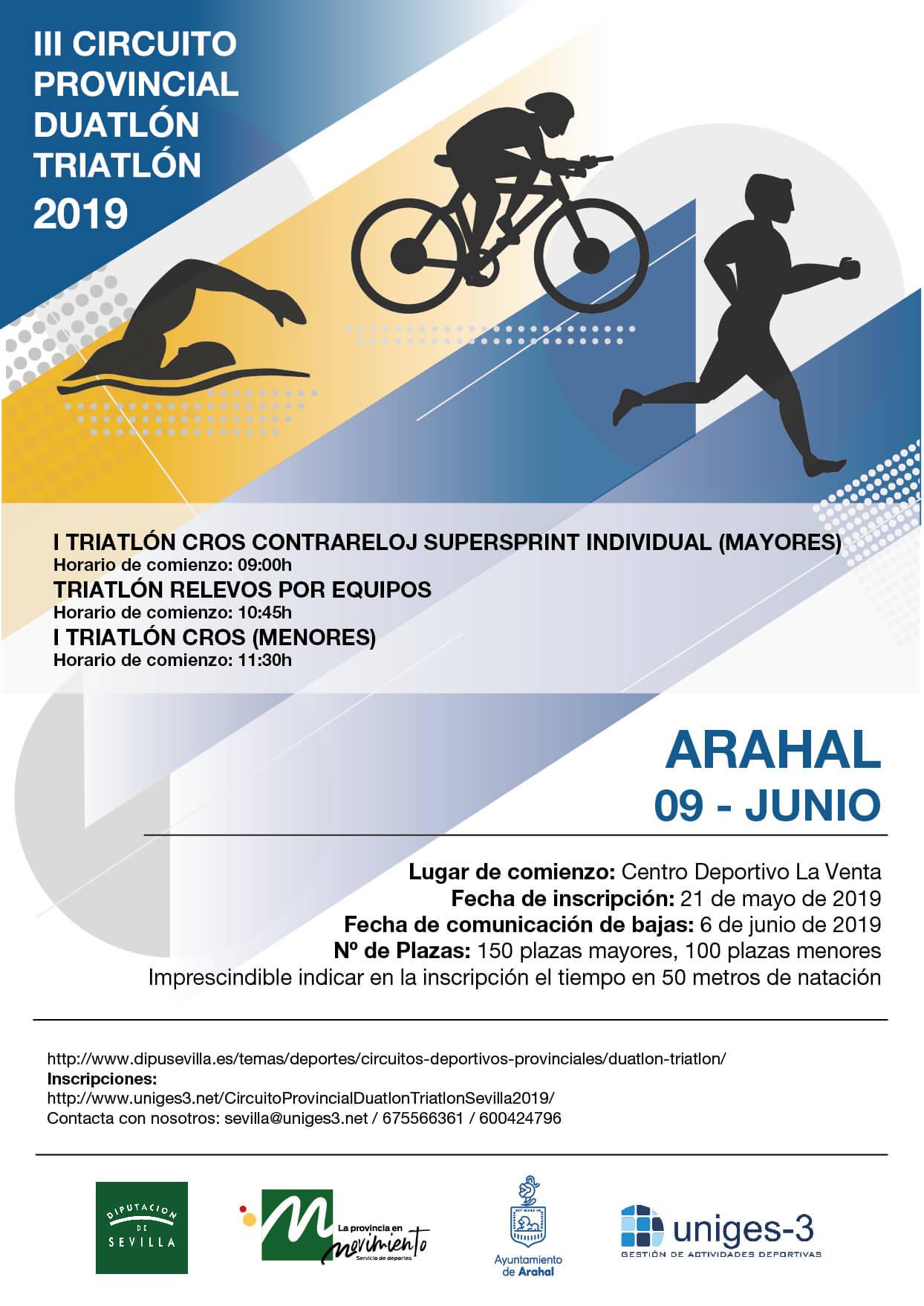 TRIATLON CROSS SUPERSPRINT RELEVOS ARAHAL DIPUTACION SEVILLA