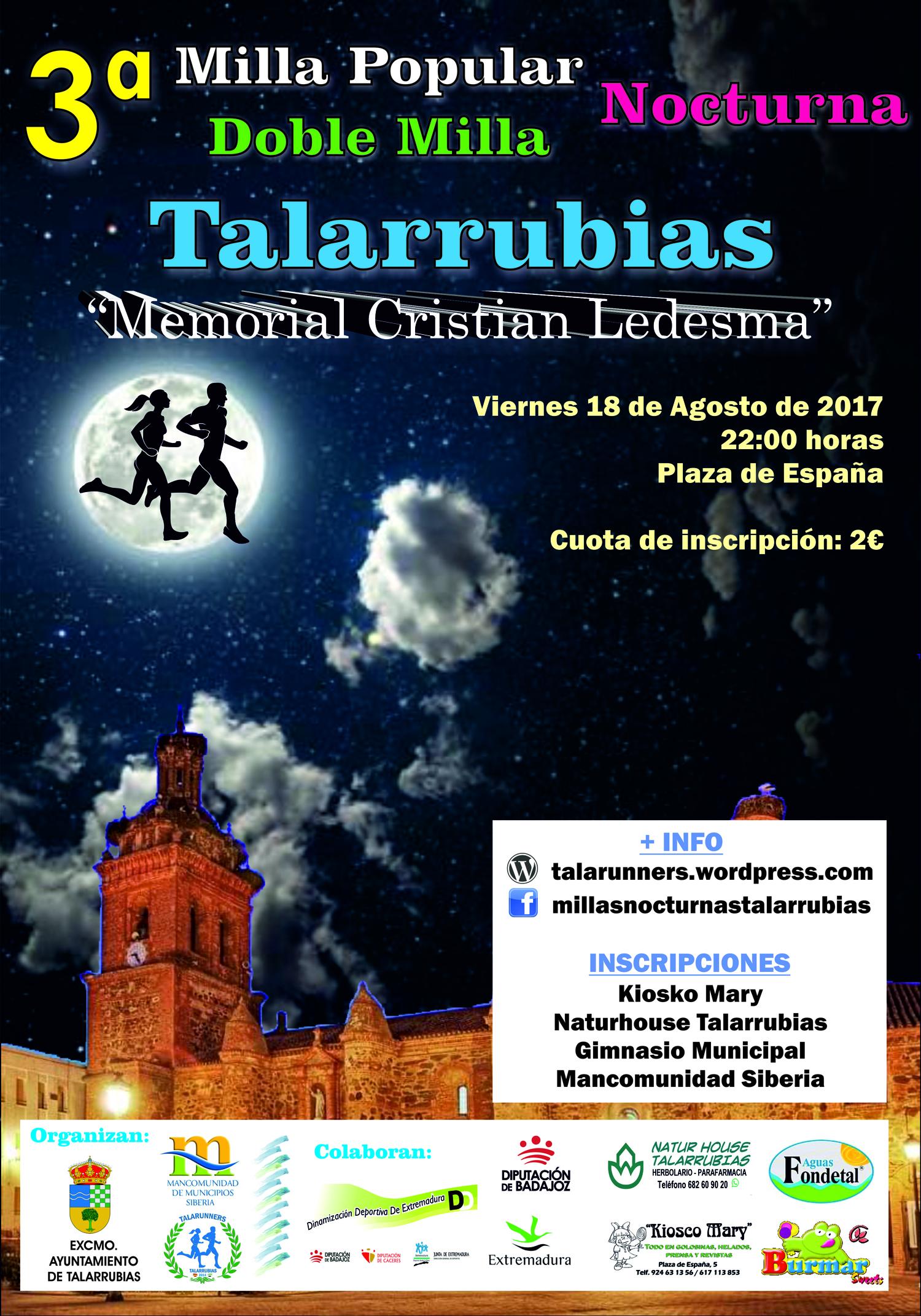 III Millas Nocturnas de Talarrubias