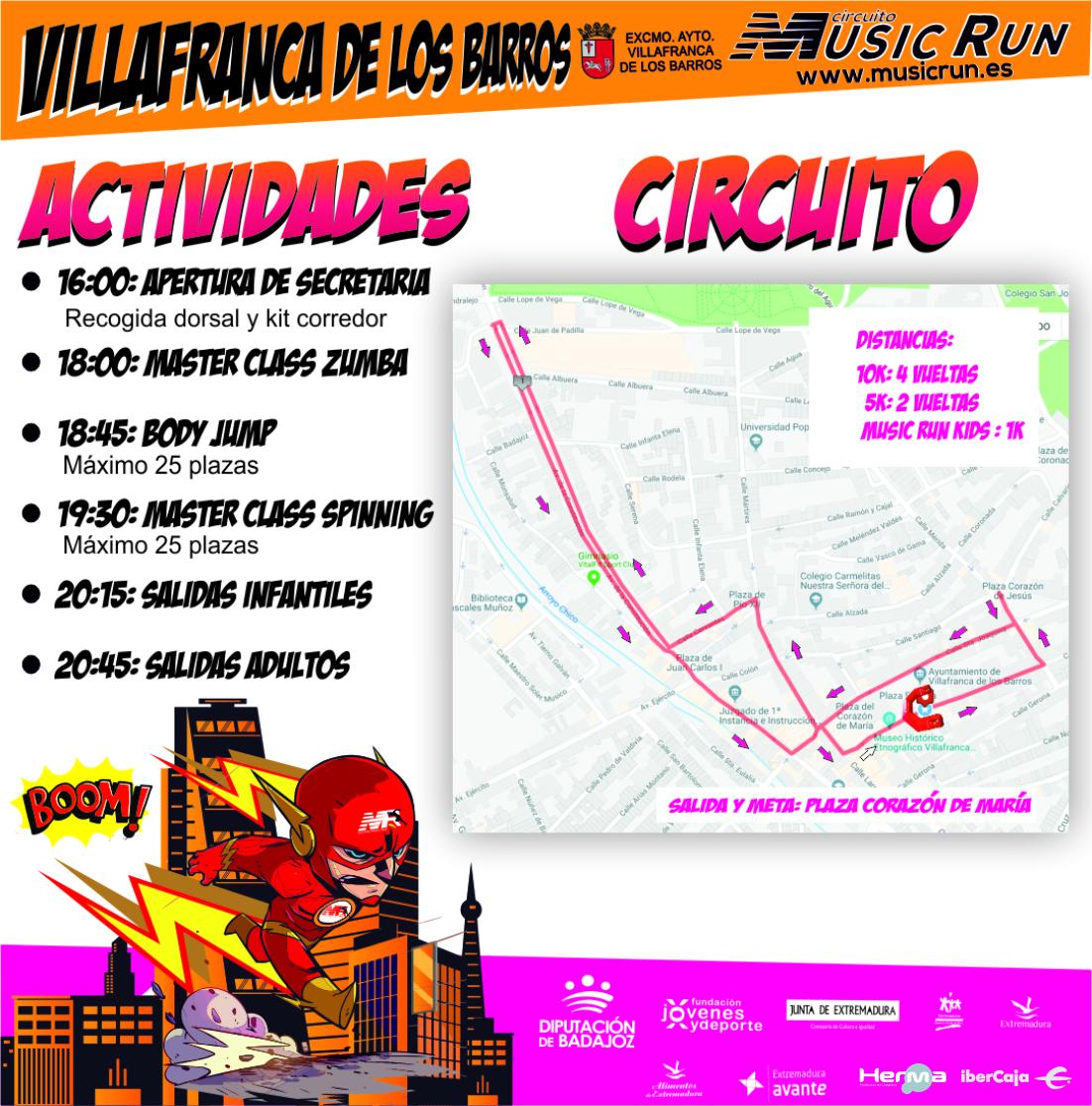 Music Run Villafranca de los Barros 10K